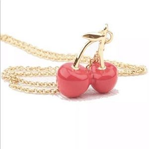 Kate Spade Cherries Necklace Magnolia Bakery